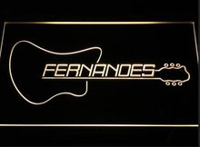 Fernandes Guitar 2 Logo beer bar pub club led neon light sign wholesale and retail