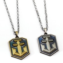 World of Warships Necklace Hot Game Pendant Fashion link chain Necklaces Friendship Gift Jewelry Accessories