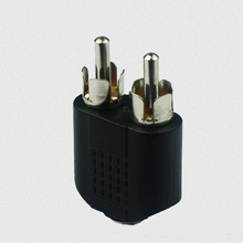 High Quality  Details about Useful 3.5mm AUX Female to 2 RCA Male Audio Stereo Adapter Splitter Connector