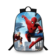 BAOBEIKU 3D Backpacks Fashion Print Spider-Man For Childrens School Laptop Animal Kids Backpack Dropshipping