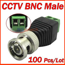 DONPHIA Coax CAT5 To Camera CCTV BNC Video Balun Connector to BNC Male Coax Connector,CCTV BNC male to terminal