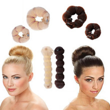2Pcs Hot Sale 3 Different Colors Hair Accessories Elegant Magic Hair Sponge Buns Headband Bun Maker Hair Ornaments Headwear