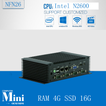 Industrial Mini PC IPC N26,3.5'  atom n2600,dual core 1.6ghz, 6*COM HDMI WIFI fanless 172*107*54 with RAM 4G SSD 16G