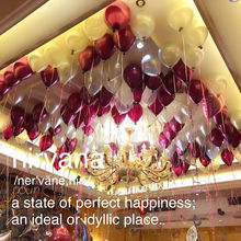 Quality 12 inch 2.8g Burgundy White Pearl balloon latex balloon circle balloon wedding birthday party suppliese 50pcs/lot(China)