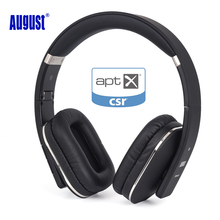 August EP650 Bluetooth Wireless Headphones with Mic/Multipoint/NFC Over Ear Bluetooth 4.1 Stereo Music aptX Headset for TV,Phone(China)