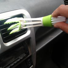 car-styling Car Air Conditioning Vent Brush Dust Collector Car Clean Tools Window Blinds Cleaner Car Detailing Cleaning Supplies(China)