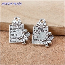 High Quality 20 Pieces/Lot 15mm*20mm Antique Silver Plated Small Gift Bag Baby Charms