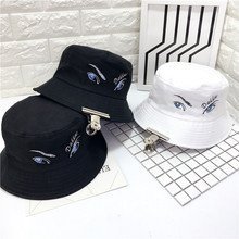 peaceminusone G-dragon Bigbang Bucket Hats Rocking eyes Hip hop Hats GD Solid Poly Man Cap Unisex Flat Casual Hat Spring Sun hat