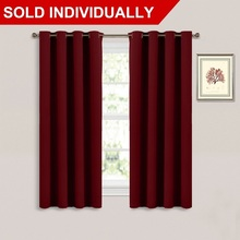 Thermal Insulated Blackout Curtain - Window Treatment Drape, Room Darkening Modern Drapery for Baby Girls(China)