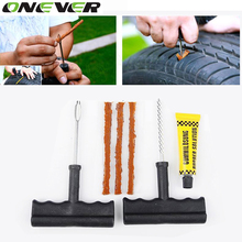 1 Set Auto Car Tire Repair Kit Car Bike Auto Tubeless Tire Tyre Puncture Plug Repair Tool Kit Diagnostic-tool Car Accessories