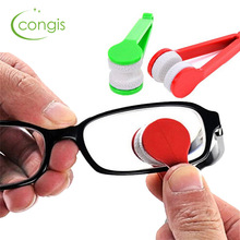 Congis 5PC/set New Microfiber Mini Sun Glasses Eyeglass Microfiber Brush Cleaner Cleaning Spectacles Tool Clean Brush
