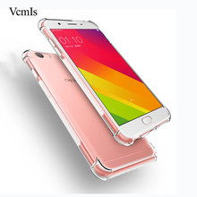 For Oppo F1s F3 anti knock Clear crystal silicone case For Oppo A59 A71 A77  transparent 1d537b62847b