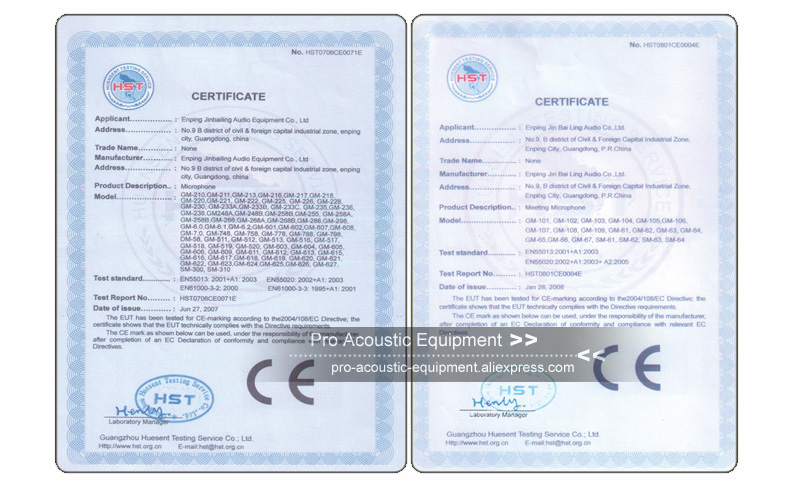 Pro Acoustic Factory Certificate Policy 03