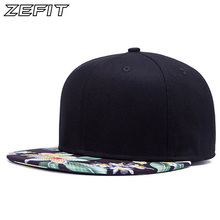 Real Pictures 2017 NEW popular good quality snap back baseball cap men fashion women hat flat Flower brimhip hop snapback cap(China)