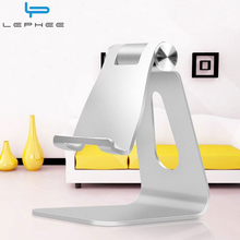 LEPHEE Universal Phone Holder Metal Aluminum Alloy Mobile Phone Holder Charging Dock Tablet Desk Mount Stand for iPhone ipad(China)
