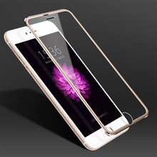 For iPhone 5 5S 6 6S 7 Plus Case Aluminum Alloy Tempered Glass Full Screen Protection Coverage Cover for iPhone 5 Phone Cases