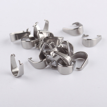 reidgaller 100pcs 4*9mm stainless steel pinch bail diy pendant bails for jewelery making accessories