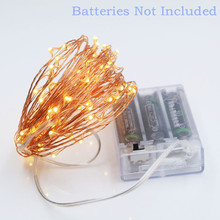 10M 100 led Battery Powered Decorative LED Copper Wire Fairy String Christmas fairy party Lights for Christmas Wedding Parties(China)