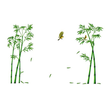 SFDC-Chinese Wind Stick Bamboo Forest Depths Wall Stickers TV Setting Wall Room Sitting Room Sofa Decorate Wall Stickers