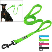 2 Handles Nylon Padded Double Handle Leash For Greater Control For Medium Large Dog Dual Padded Handles Protect Dog in Traffic(China)