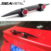 Car Mini Spoiler Wing Rear Spoiler Small Airplane Empennage Model Without Perforation Universal Tail Decoration Auto Accessories(China)