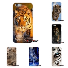 For Samsung Galaxy Note 3 4 5 S4 S5 MINI S6 S7 edge Soft Silicone Cell Phone Case Cover animal White tiger burning bright