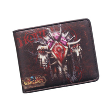 NEWEST 2016 The World of Warcraft Wallets Leather Slim Small Wallet WOW Alliance Horde Flag Purse Cool Movie Game Wallet For Men