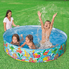 Genuine INTEX56452 Ocean Park Hard Rubber Pool 183*38CM Large Storage Capacity 977 Liters Outdoor Swimming Pool For Children