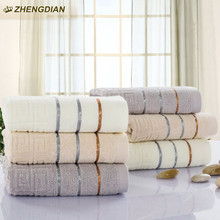 ZhengDian 2017 NEW 100% Cotton stripes Bathroom face Towels gift  For Fast Drying Soft Absorbent air permeability toalhas