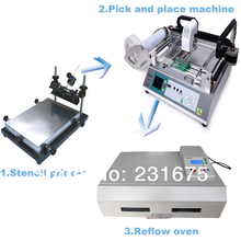 Small SMT Production Line-Pick and place machine TM220A,Solder Printer,Reflow Oven T-962C,Manufacturer,Led component,PCB Board