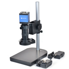 2.0MP CMOS HDMI Microscope Digital Camera For Industry Lab PCB + Table Stand + 100X C-mount Lens + 40 LED Light