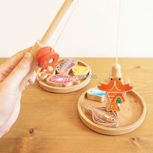 Funny Wooden Fishing Cooking Children Toys Fish Magnetic Fishing Game Kids Educational Toy For Boy Girl Free Shipping(China)