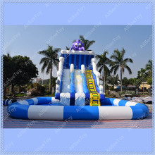 Giant Octopus Inflatable Pool Slide, Inflatable Water Slide for Kids