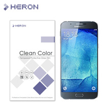 0.3mm Tempered Glass for Samsung GalaxyA8 A 8 A8000 2.5d Round Border Anti Explostion Finger Print Film with Retail Package