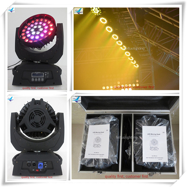 (4pcs/CASE)Feituo stage lighting 36x10 led moving head wash light copy robe robin 600(China (Mainland))