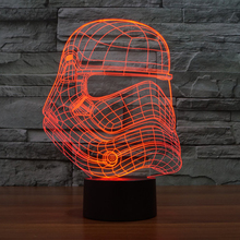 Star Wars Storm Knight USB Lamp Toy Flash Party Atmosphere Luminarias Touch 7 Colors Changeing LED Illusion Nightlight Lamparas