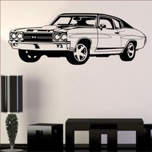 CLASSIC MUSCLE stickers kids mens lads bedroom vinyl butterfly car wall sticker