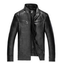 High Quality New Style Brand Luxury Fashion Men's Leather Jacket 5XL Business Casual Haining Leather Jacket Men Coats Jaquetas(China)
