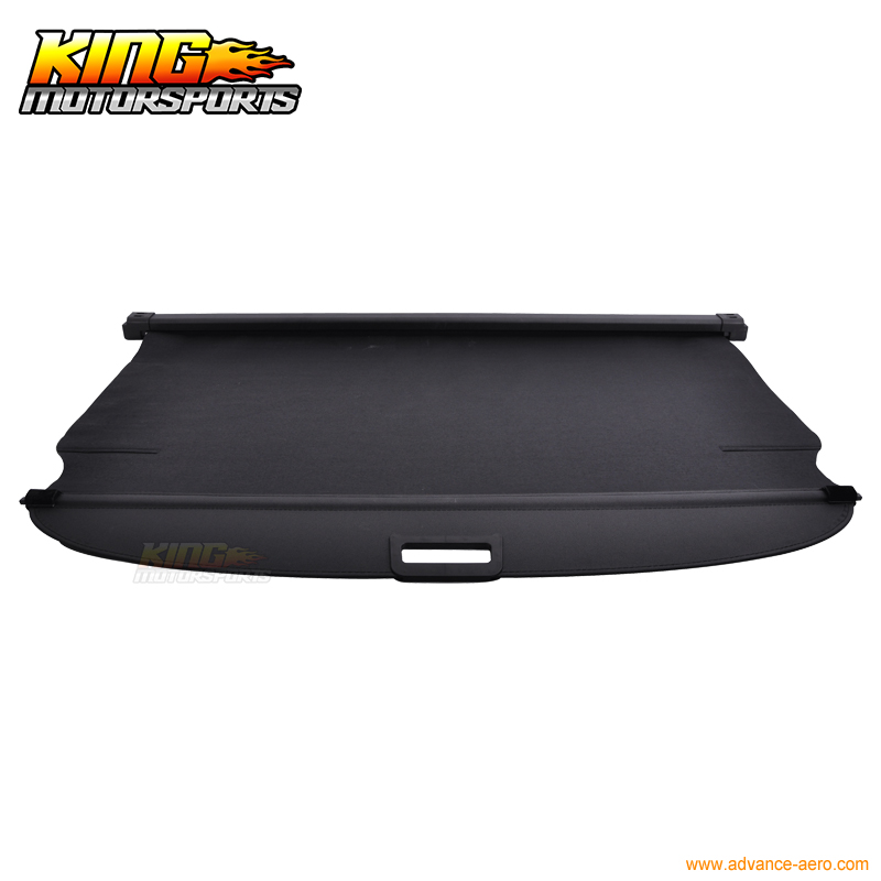 Factory Style Unpainted Black Retractable Cargo Cover Rear Trunk Luggage Shade by IKONMOTORSPORTS Rear Cargo Cover Fits 2011-2015 Kia Sportage 2012 2013 2014