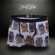 lena river new arrival Breathable parrot patternunderwear men fashion sexy comfortable boxer shorts fitting GAY Tide underpants(China)