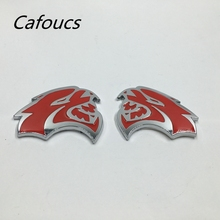 Red HELLCAT Emblems fit For 2015 2016 2017 Dodge Challenger Badge Left + Right Sides Metal Logo Emblem