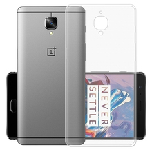 Cheap Mobile Phone Cases for OnePlus 3 3T Transparent Crystal TPU Thin Protective Case for One Plus 3 3T Back Cover Case