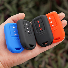 car key fob silicone cover set skin protect holder for honda Vezel city civic Jazz CRV Crider HRV Fit Freed Smart keyless remote