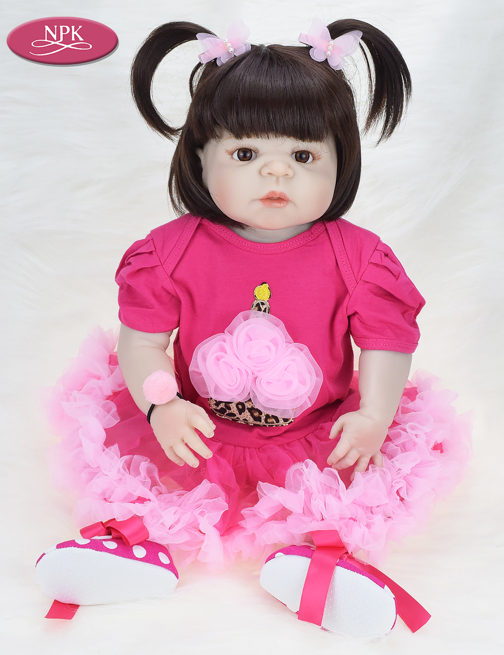NPK 57CM Full Body Soft Silicone Girls Reborn Baby Doll Bathe Toys Lifelike Princess Girl Dolls Bebe Real Reborn Boneca Menina  (11)