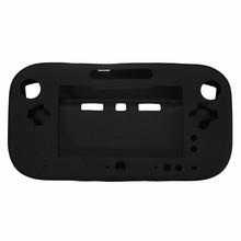 Best Selling Black Soft Silicone Case Cover Skin For Nintendo For Wii U GamePad Console Controller NEW(China)