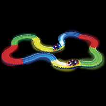 2017 Hot Magic Tracks Bend Flex Glow In The Dark Assembly Toy Race Track 162/165/220/240pcs + 1pc LED Car Magic glow race track
