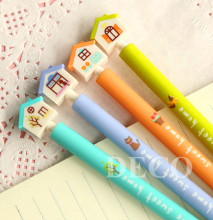 1PC/lot Kawaii house design ballpoint pen for kids stationery 4 color blue ink writing pen School supplies(ss-a794)(China)