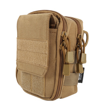 Tactical Military Hunting Small Utility Pouch Pack Army Molle Cover Scheme Field Sundries Outdoor Sports Bags Mess Briefcase W2(China)