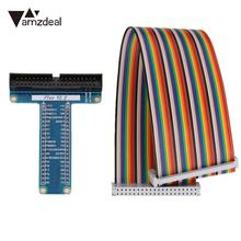 amzdeal 2017 new 1PCS Colorful T Expanded Board With Cable For Raspberry Pi1/B+ Pi2/B Pi3/B type expansion(China)