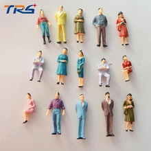 1:50 scale train building people Painted Model Train Passenger People Figures for Model Building Layout(China)